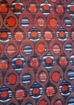 jacquard ronds noir et orange