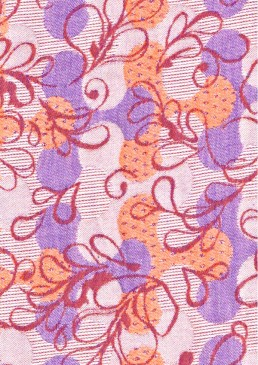 écharpe jacquard orange-violet bio