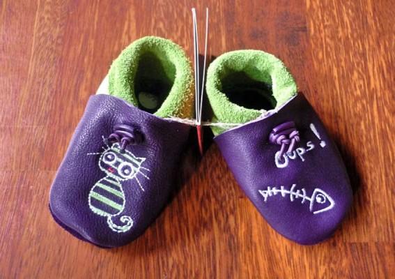 chausson cuir souple enfant
