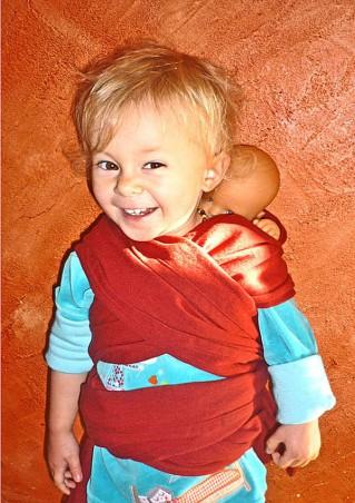 Mini écharpe bio porte-poupée