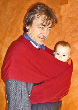 portage bébé papa