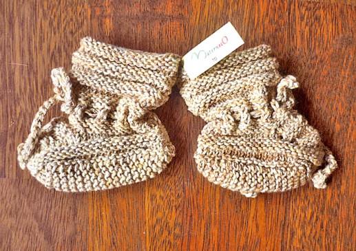 Chaussons tricotés bébé
