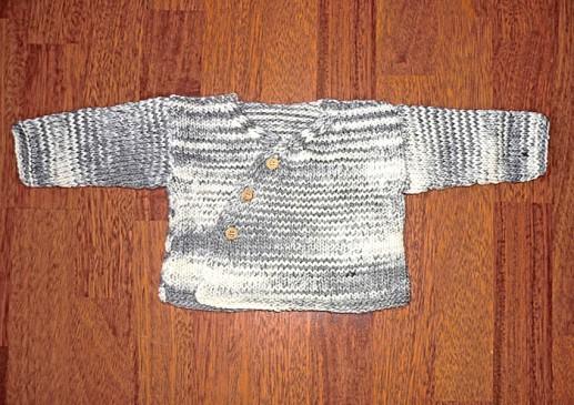 gilet tricot bébé