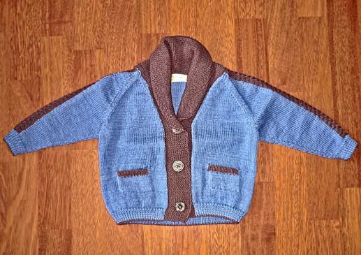 Gilet laine enfant tricoté main