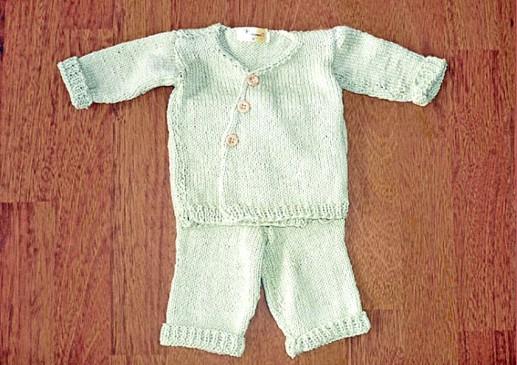 layette bébé tricotée