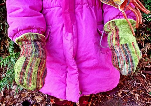 Moufle laine enfant
