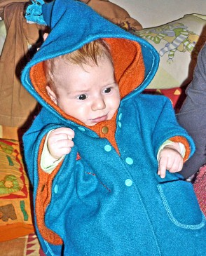 2 capes laine bébé modulable