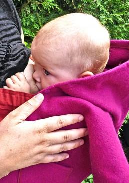 cape d'allaitement enfant