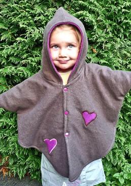 Cape enfant laine