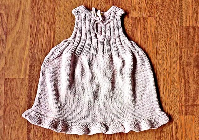 Robe tricotée coton bio