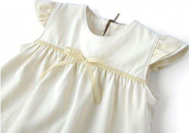 Robe baptême coton bio