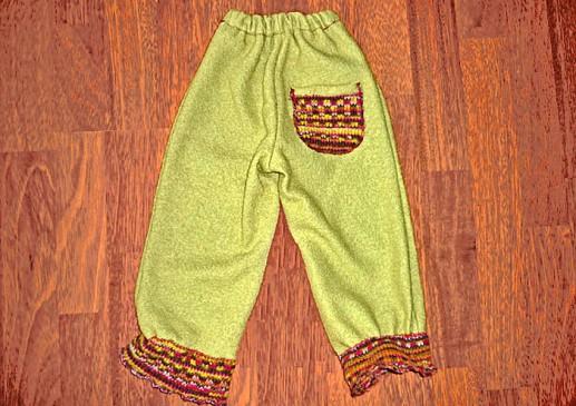 pantalons enfant en laine