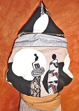 grand porte-bébé chinois avec capuche