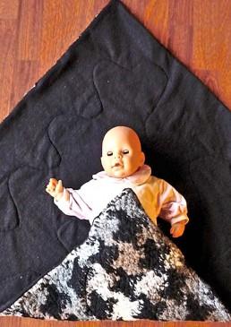 Couverture bébé coton bio et laine