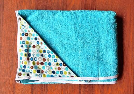 Cadeau naissance serviette de bain bio