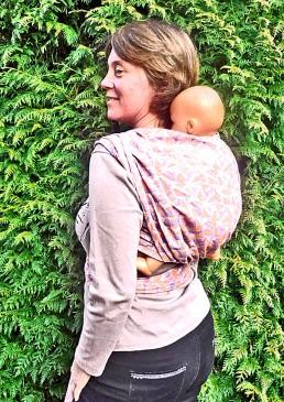écharpe jacquard porte-bébé