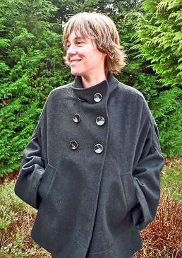 veste grossesse et portage noir