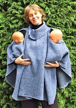 58f5a7e076a ... Poncho femme laine  Poncho de portage jumeaux ...