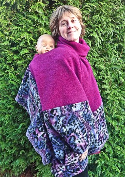 Poncho de portage laine