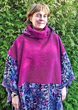 Poncho laine femme
