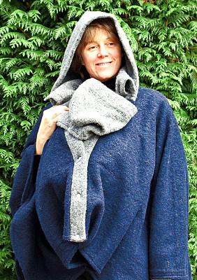 Poncho porte-bébé laine