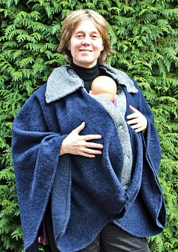 Poncho de portage laine made in France