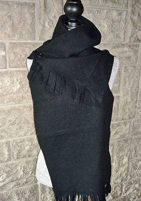 écharpe femme laine à bouton