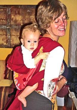 porte-bébé chinois rouge
