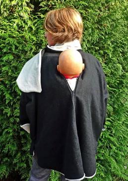 Manteau porter bébé  dans le dos