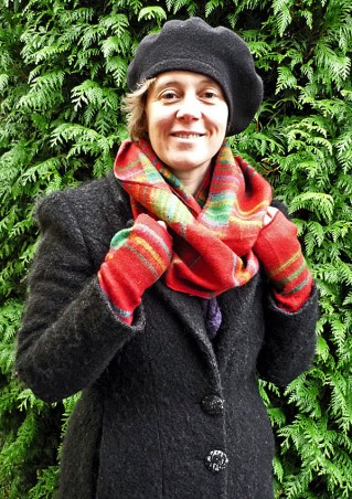 Écharpe femme tube laine