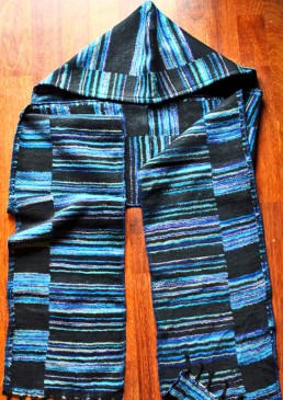 écharpe capuche en laine