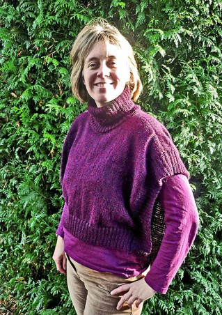 pull femme en alpaga adapté à l'allaitement
