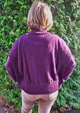 pull en alpaga tricoté main